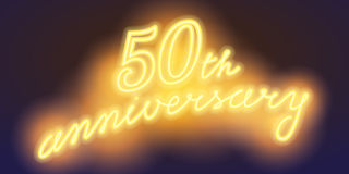 50 years anniversary vector illustration, banner Royalty Free Stock Images