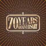70 years anniversary vector illustration, banner, icon Stock Image