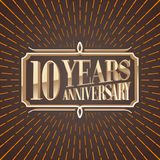 10 years anniversary vector illustration, banner, icon Stock Images