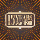 15 years anniversary vector illustration, icon, logo Stock Photo