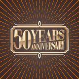 50 years anniversary vector illustration, icon, logo Stock Photos