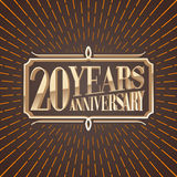 20 years anniversary vector illustration, icon, logo Stock Photos