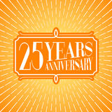 25 years anniversary vector illustration, icon, logo. Graphic design element for 25th anniversary birthday greeting card Royalty Free Stock Image
