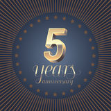 5 years anniversary vector logo Royalty Free Stock Photo
