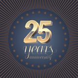 25 years anniversary vector logo Royalty Free Stock Photo