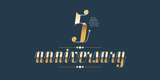 5 years anniversary vector logo Stock Photo
