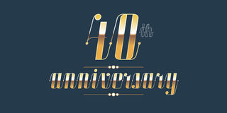 40 years anniversary vector logo Royalty Free Stock Images