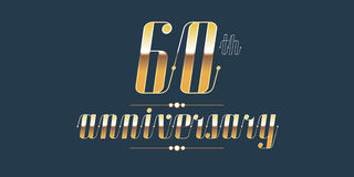 60 years anniversary vector logo Royalty Free Stock Images