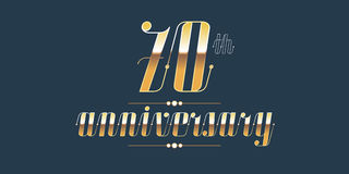 70 years anniversary vector logo Stock Photography