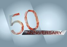 50 years anniversary Royalty Free Stock Photos