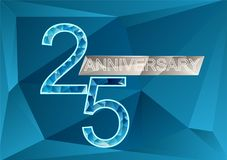 25 years anniversary. Background. triangular vector illustration Stock Photos