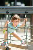 3 years baby  at playground Royalty Free Stock Images