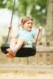 3 years baby on swing Royalty Free Stock Image