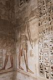 1500 years BC Ancient Egyptian Graves. 23 September 2017 Ancient colorful painting on wall inside Egyptian Nobles Graves that painted before 1500 years BC stock images