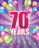 70 years birthday card Royalty Free Stock Photo