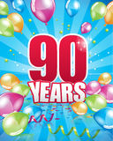 90 years birthday card Stock Photography