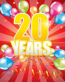 20 years birthday card Royalty Free Stock Photo