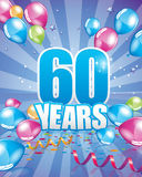 60 years birthday card. Full vector elements Stock Images