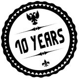 10 YEARS black stamp. Illustration graphic concept image Stock Illustration