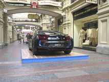 100 years of the BMW. The State Department Store. Moscow. BMW i8 Stock Image