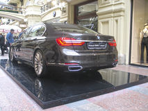 100 years of the BMW. The State Department Store. Moscow. BMW 7-Series Royalty Free Stock Images