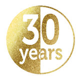 30 years. In bright gold Stock Image