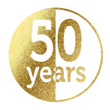 50 years. In bright gold Stock Photo