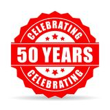 50 years celebrating vector star. On white background Royalty Free Stock Photos