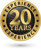 20 years experience gold label, vector illustration. 20 years experience gold label, vector vector illustration