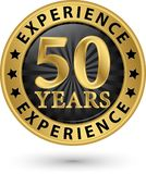 50 years experience gold label, vector illustration. 50 years experience gold label, vector royalty free illustration
