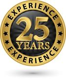 25 years experience gold label, vector. Illustration Royalty Free Stock Photography