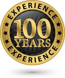 100 years experience gold label, vector. Illustration Royalty Free Stock Photography