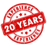 20 years experience rubber stamp. 20 years experience rubber vector stamp Royalty Free Stock Photography