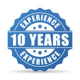 10 years experience vector icon. Illustration Royalty Free Stock Photos