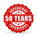 50 years experience vector icon. Isolated on white background royalty free illustration