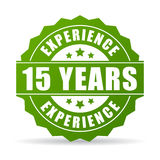 15 years experience vector icon. On white background stock illustration