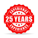 25 years experience vector icon. On white background Royalty Free Stock Images