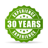 30 years experience vector icon. On white background Royalty Free Stock Photography
