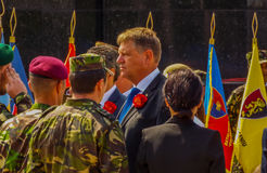 100 years after the First World War in europe ,commemoration in europe, romanian heroes Stock Image