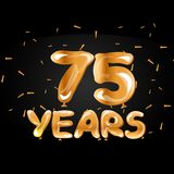 75 years golden anniversary celebration. Vector illustration Royalty Free Stock Photo