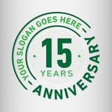 15 Years Anniversary Celebration Design Template. Anniversary vector and illustration. Fifteen years logo. 15 years anniversary celebration design template royalty free illustration