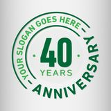 40 Years Anniversary Celebration Design Template. Anniversary vector and illustration. Forty years logo. 40 years anniversary celebration design template. Forty vector illustration