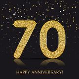 90 years Happy anniversary banner with gold elements. Vector illustration royalty free illustration