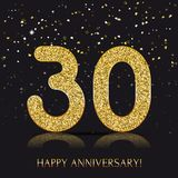 90 years Happy anniversary banner with gold elements. Vector illustration Stock Images