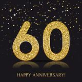 90 years Happy anniversary banner with gold elements. Vector illustration vector illustration