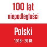 100 years of independence of Poland Red white flag with inscript. Ion Royalty Free Stock Photos