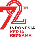 72 Years Indonesia Independence Day royalty free stock photos