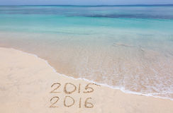 Years 2015 and 2016 Royalty Free Stock Image