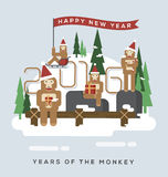 Years of the monkey.2016 Stock Photography