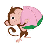 The years of the monkey. Royalty Free Stock Photography